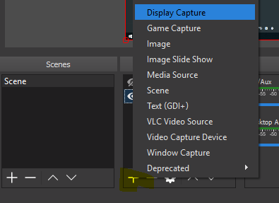 OBS Display Capture