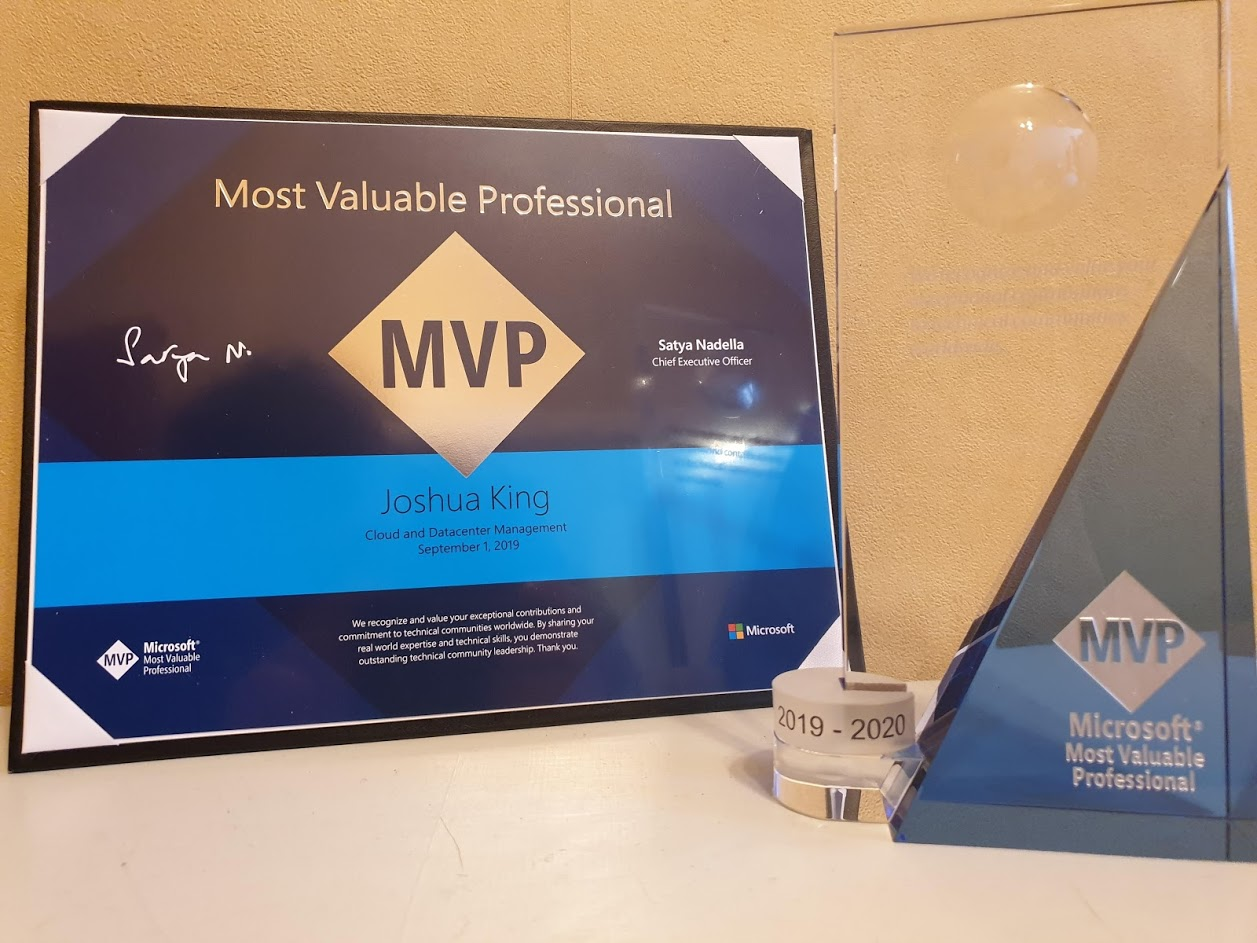 MVP Award (Cloud and Datacenter Management)