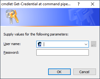 Standard password prompt
